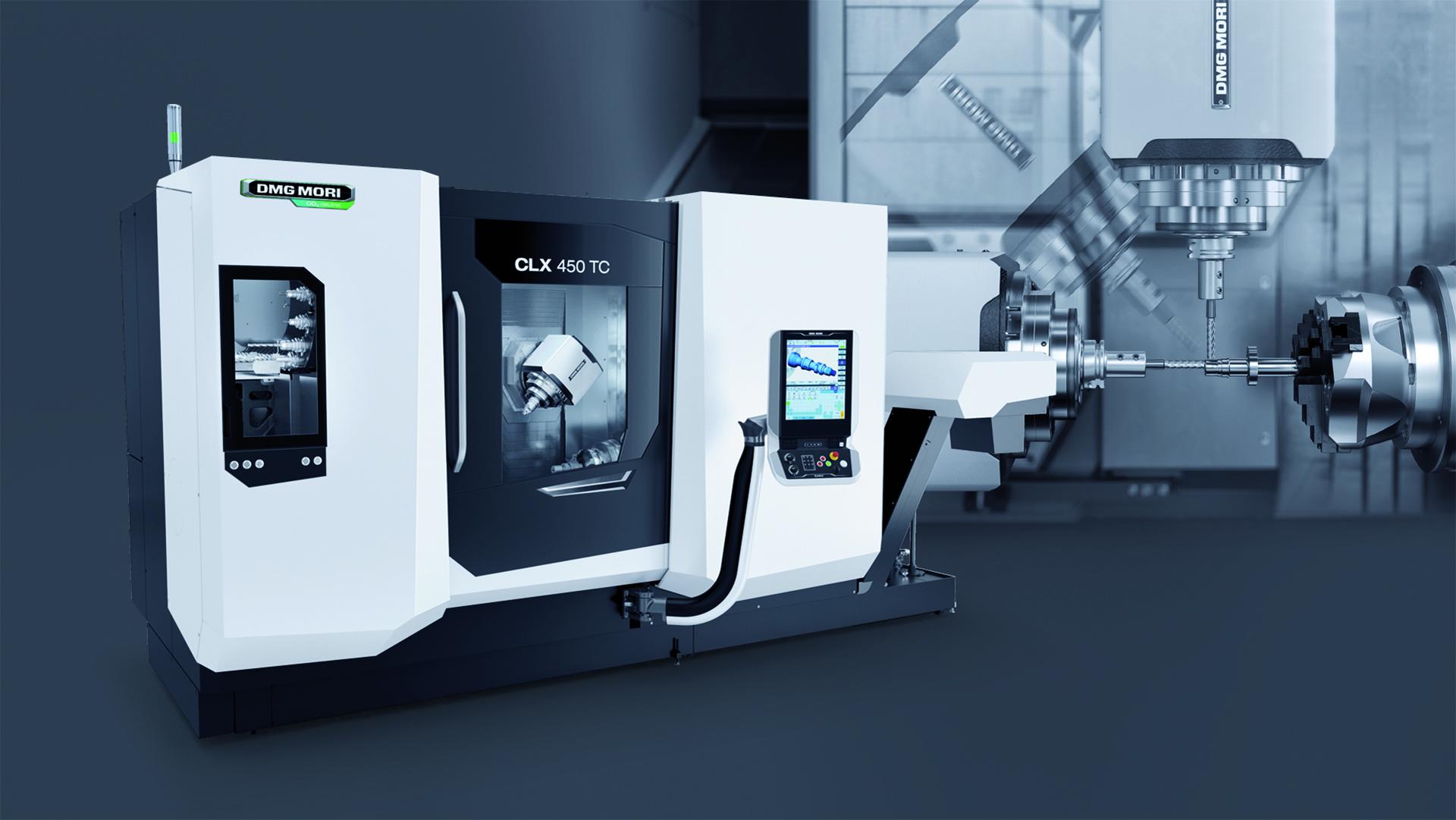 Zukunftssicherer Einstieg in die 6-seitige Komplettbearbeitung Mit der neuen CLX 450 TC und ihrer compactMASTER Dreh-Frässpindel reagiert DMG MORI auf die steigenden Anforderungen im Universaldrehen.