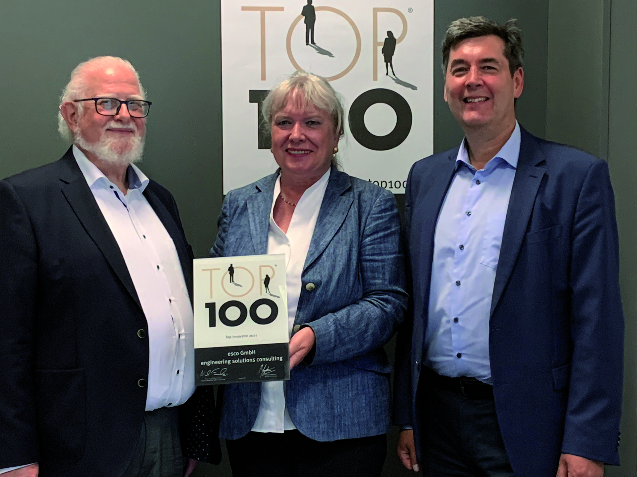 esco GmbH receives TOP 100 award SME impresses in innovation competition/ scientific selection process passed